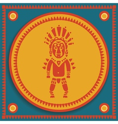 Aztec on stylized background vector