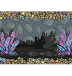 Cartoon of underground cave vector
