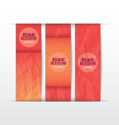 Collection banner design paper of color vector