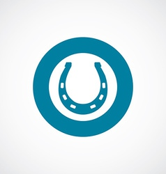 Horseshoe icon bold blue circle border vector
