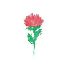 Handwritten watercolor flower vector