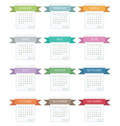 Calender for 2012 vector