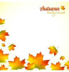 Autumn falling down foliage background vector