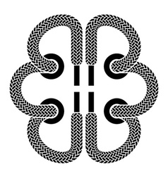Shoe lace brain symbol vector