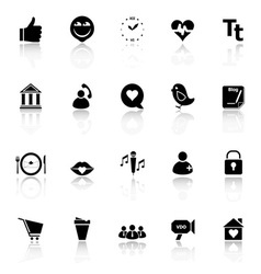 Chat conversation icons with reflect on white vector