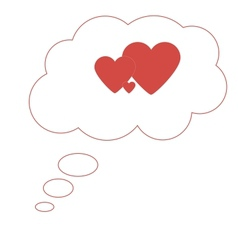 Thoughts of love and family image vector