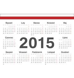 Circle polish 2015 year calendar vector