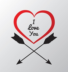 Red heart with arrows vector