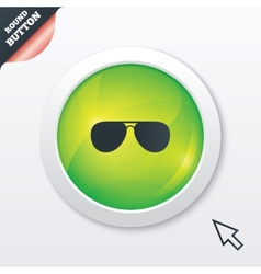 Aviator sunglasses sign icon pilot glasses vector