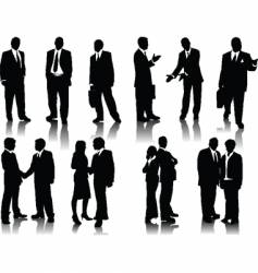 Office people silhouettes vector