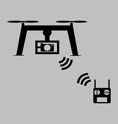 Multicopter radio icon vector