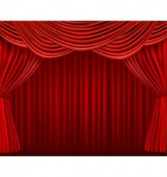 Red curtains on red background6 vector