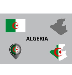 Map of algeria and symbol vector