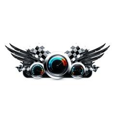 Dashboard emblem vector