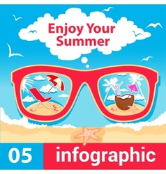 Infographic summer time vector