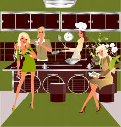 Kitchen party vector