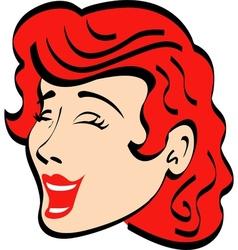 Vintage advertising woman design vector