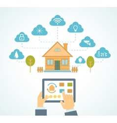 Smart house automation vector