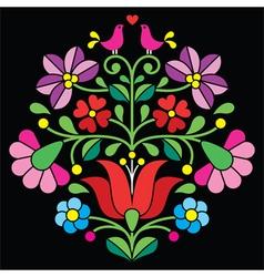Kalocsai embroidery - hungarian folk pattern vector