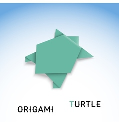 Turtle origami vector