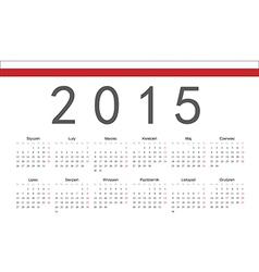 Rectangle polish 2015 year calendar vector