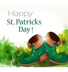 Leprechaun shoes and clover vector