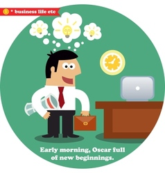 Business inspirations workday vector