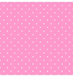 Tile white polka dots pink on background pattern vector