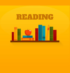 Reading books flat icon vector