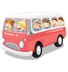 Kids in a bus vector
