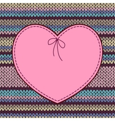 Valentines day card heart shape design with vector