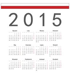 Square polish 2015 year calendar vector