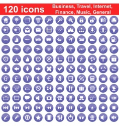 Business travel general icon set vector