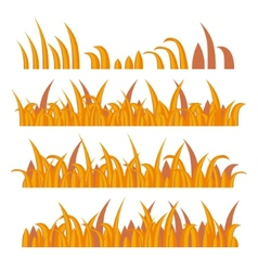 Autumn grass constructor on white vector
