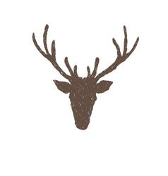 Deer head abstract isolated vector