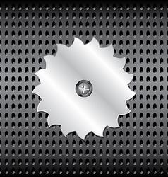 Metal saw vector