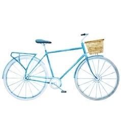 Watercolor bike bicycle vector
