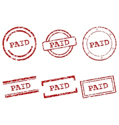 Paid stamps vector