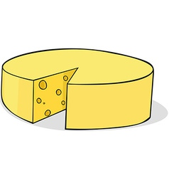 Sliced cheese vector
