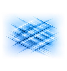 Abstract lines blue cross vector