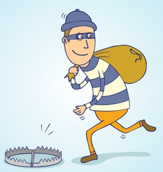 Thief trap vector