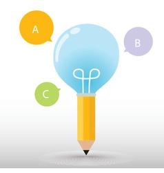 Pencil bulb vector