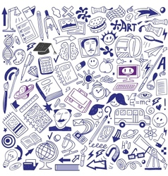 School education - doodles collection vector