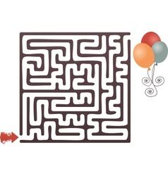 Balloon maze vector