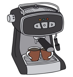 Electric espresso maker vector