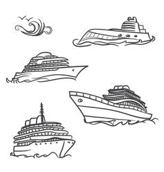 Yacht symbols vector