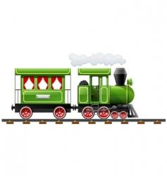 Retro locomotive vector
