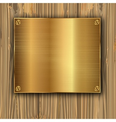 Gold on a planks vector