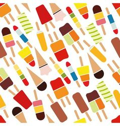 Popsicle seamless pattern vector