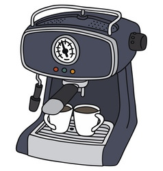 Blue electric espresso maker vector